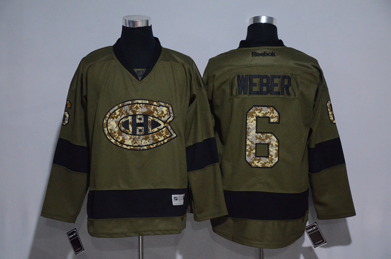 Canadiens 6 Shea Weber Olive Green Salute to Service Reebok Jersey