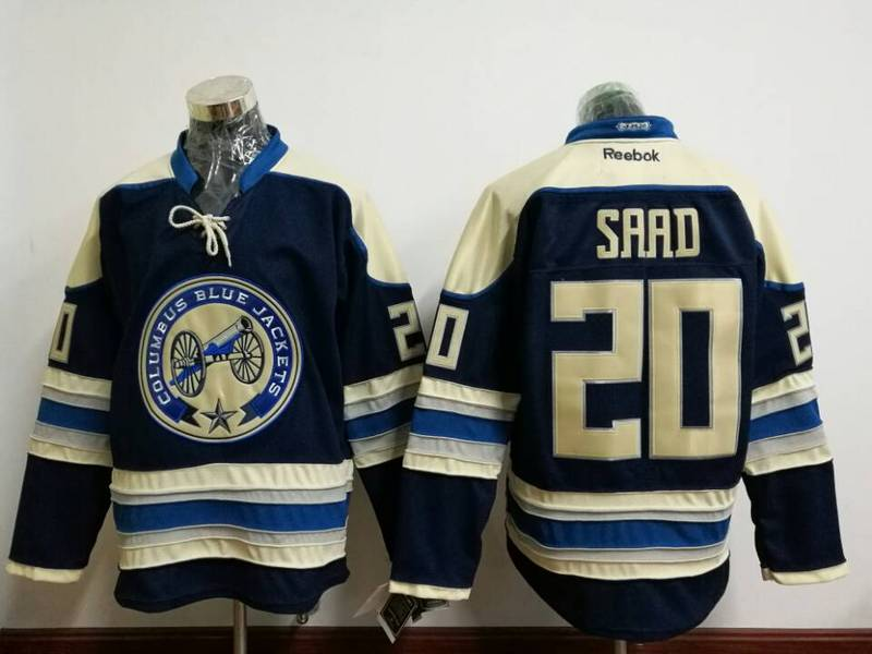 Blue Jackets 20 Brandon Saad Navy Blue Reebok Jersey
