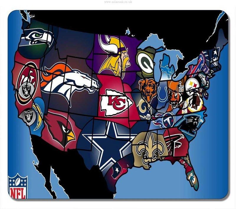 NFL 32 Teams Gaming/Office Mouse Pad