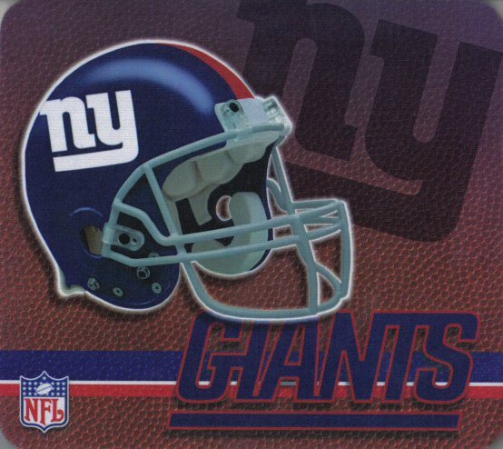 New York Giants Gaming/Office NFL Mouse Pad