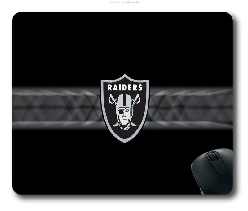 Oakland Raiders Black Gaming/Office NFL Mouse Pad