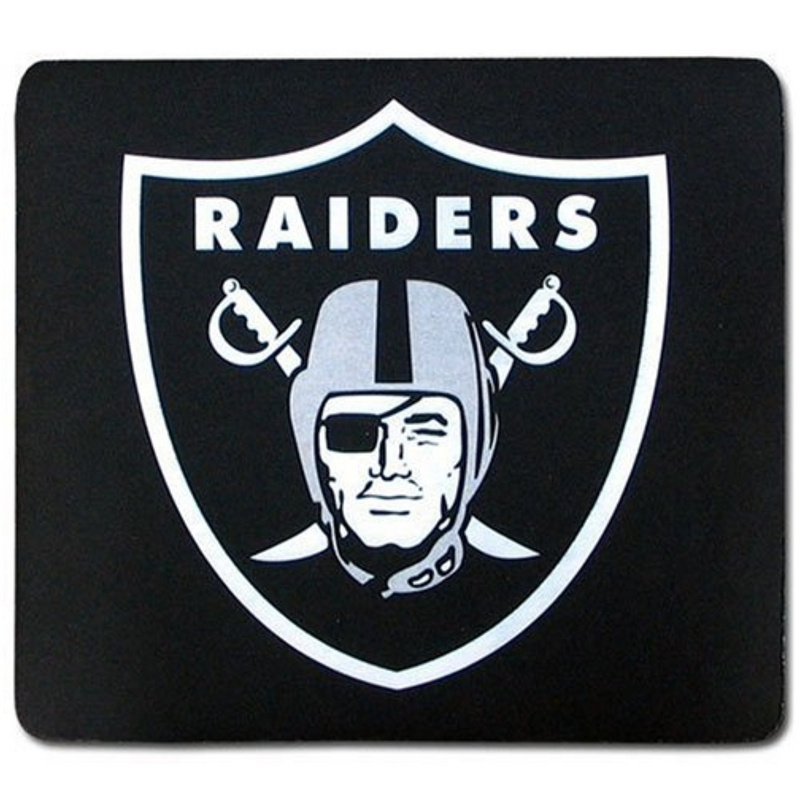Oakland Raiders Black Gaming/Office NFL Mouse Pad2