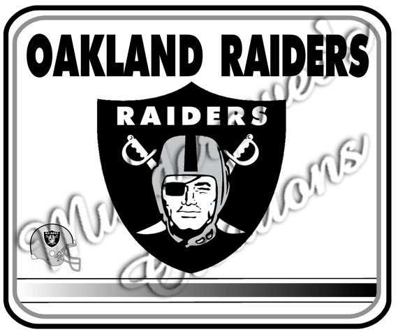 Oakland Raiders White Gaming/Office NFL Mouse Pad