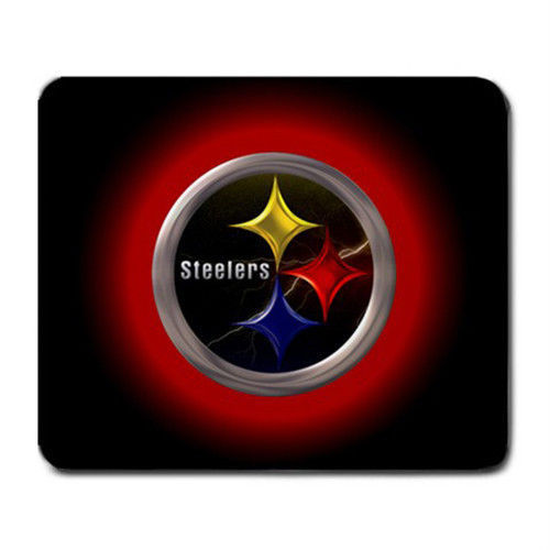 Pittsburgh Steelers Black Gaming/Office NFL Mouse Pad