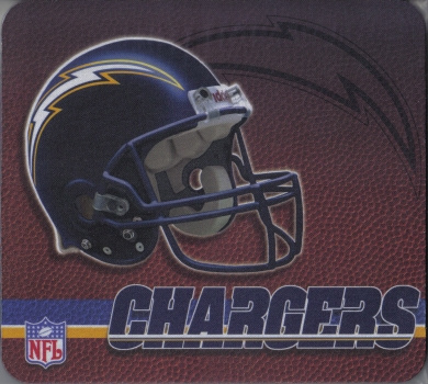 San Diego Chargers Gaming/Office NFL Mouse Pad