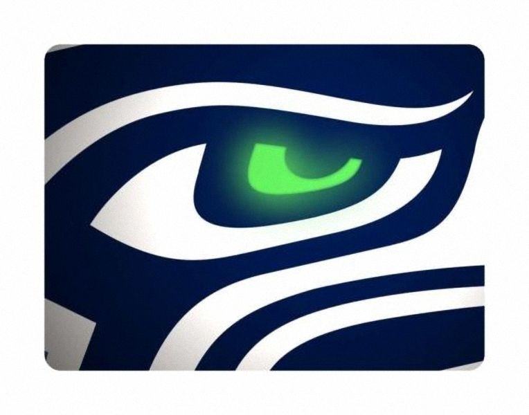 Seattle Seahawks White Gaming/Office NFL Mouse Pad
