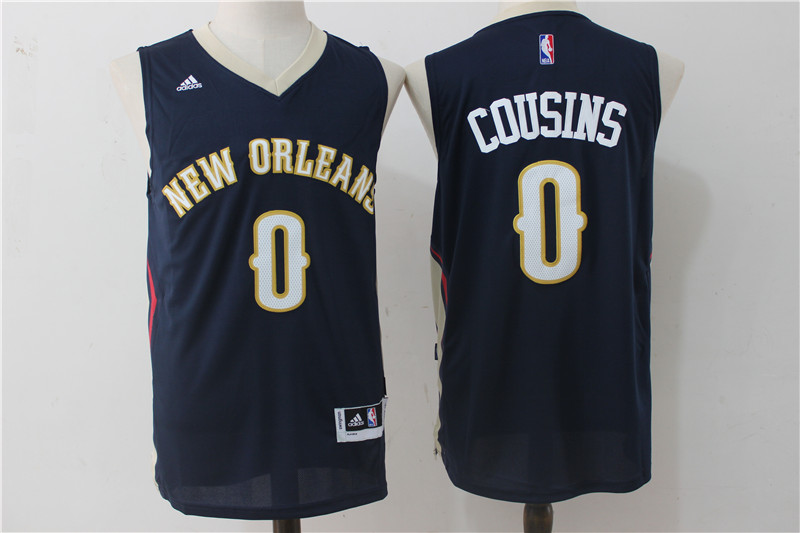 Pelicans 0 DeMarcus Cousins Navy Swingman Jersey