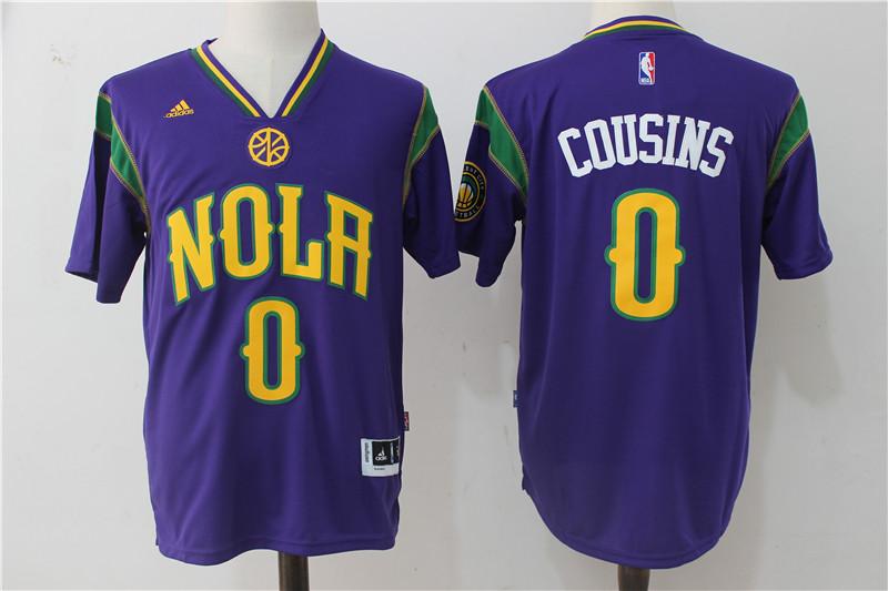 Pelicans 0 DeMarcus Cousins Purple Pride Swingman Jersey