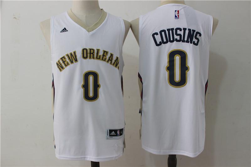 Pelicans 0 DeMarcus Cousins White Swingman Jersey