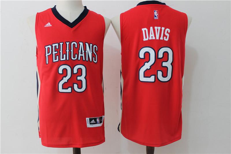 Pelicans 23 Anthony Davis Red Swingman Jersey