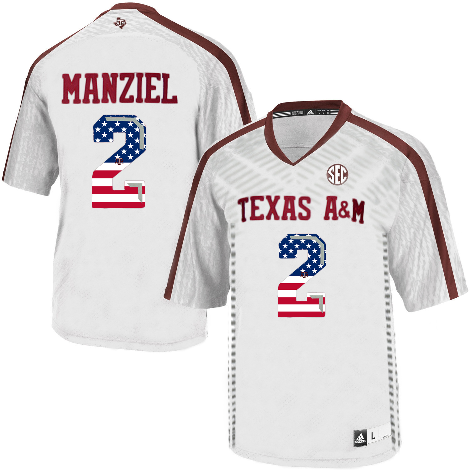 Texas A&M Aggies 2 Johnny Manziel White College Football Jersey