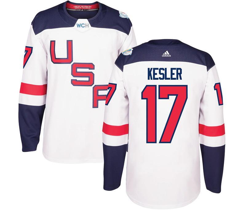 USA 17 Ryan Kesler White 2016 World Cup Of Hockey Premier Player Jersey