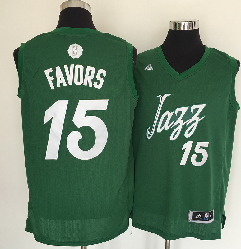 Jazz 15 Derrick Flavors Green 2016 Christmas Day Swingman Jersey