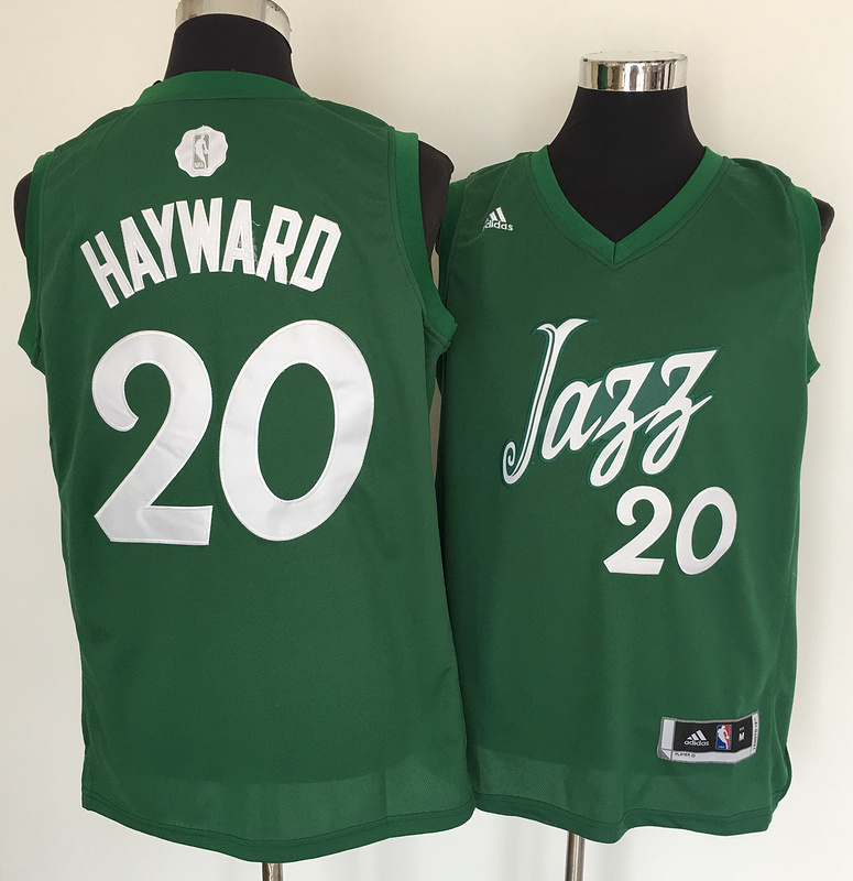 Jazz 20 Gordon Hayward Green 2016 Christmas Day Swingman Jersey