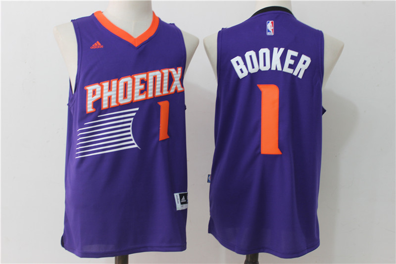 Suns 1 Devin Booker Purple Swingman Jersey