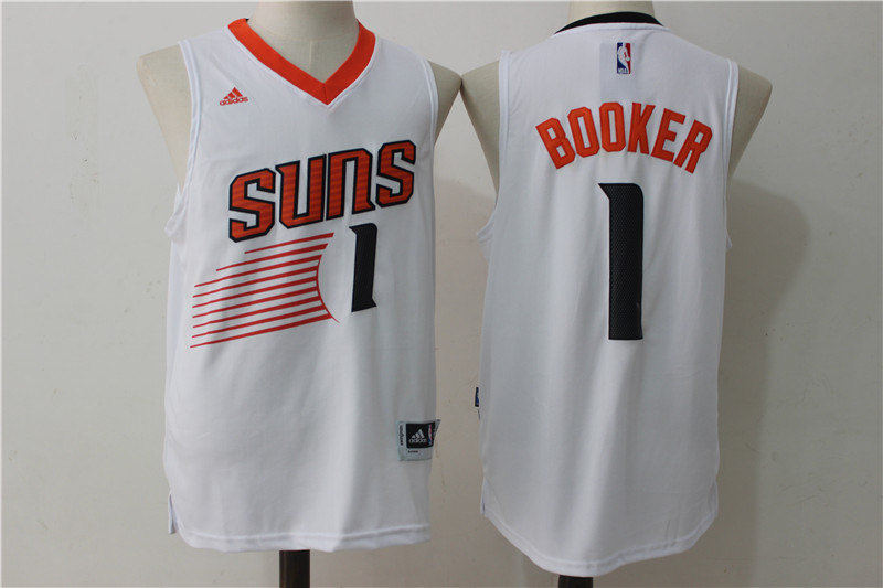 Suns 1 Devin Booker White Swingman Jersey