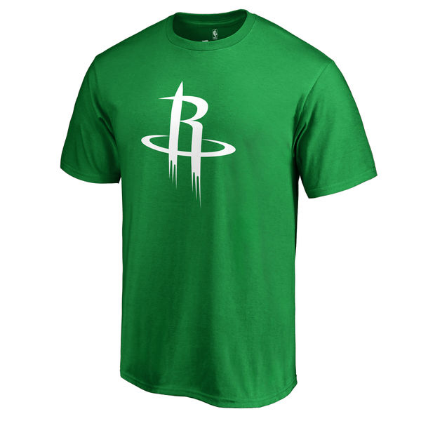 Houston Rockets Fanatics Branded Kelly Green St. Patrick's Day White Logo T-Shirt