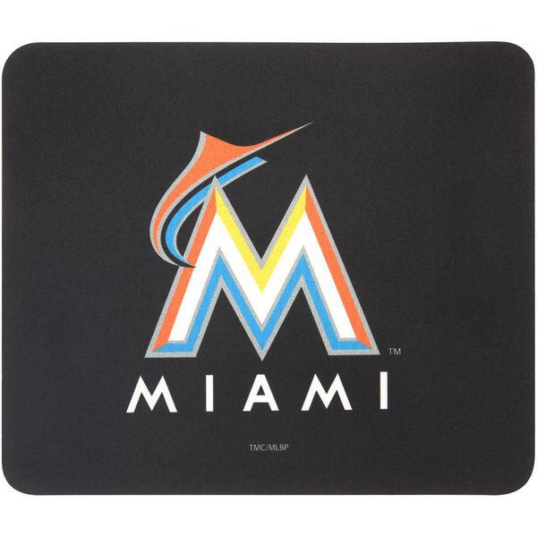 Miami Marlins Black Gaming/Office MLB Mouse Pad
