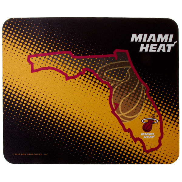 Miami Heat Black Gaming/Office NBA Mouse Pad