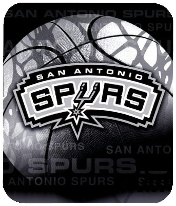 San Antonio Spurs Black Gaming/Office NBA Mouse Pad
