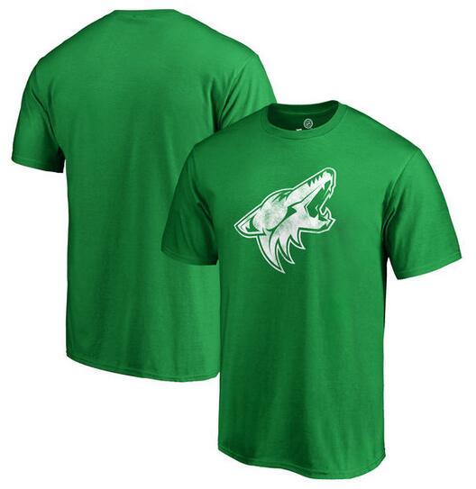Arizona Coyotes Fanatics Branded St. Patrick's Day White Logo T-Shirt Kelly Green