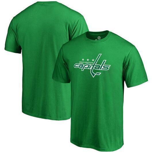 Washington Capitals Fanatics Branded St. Patrick's Day White Logo T-Shirt Kelly Green