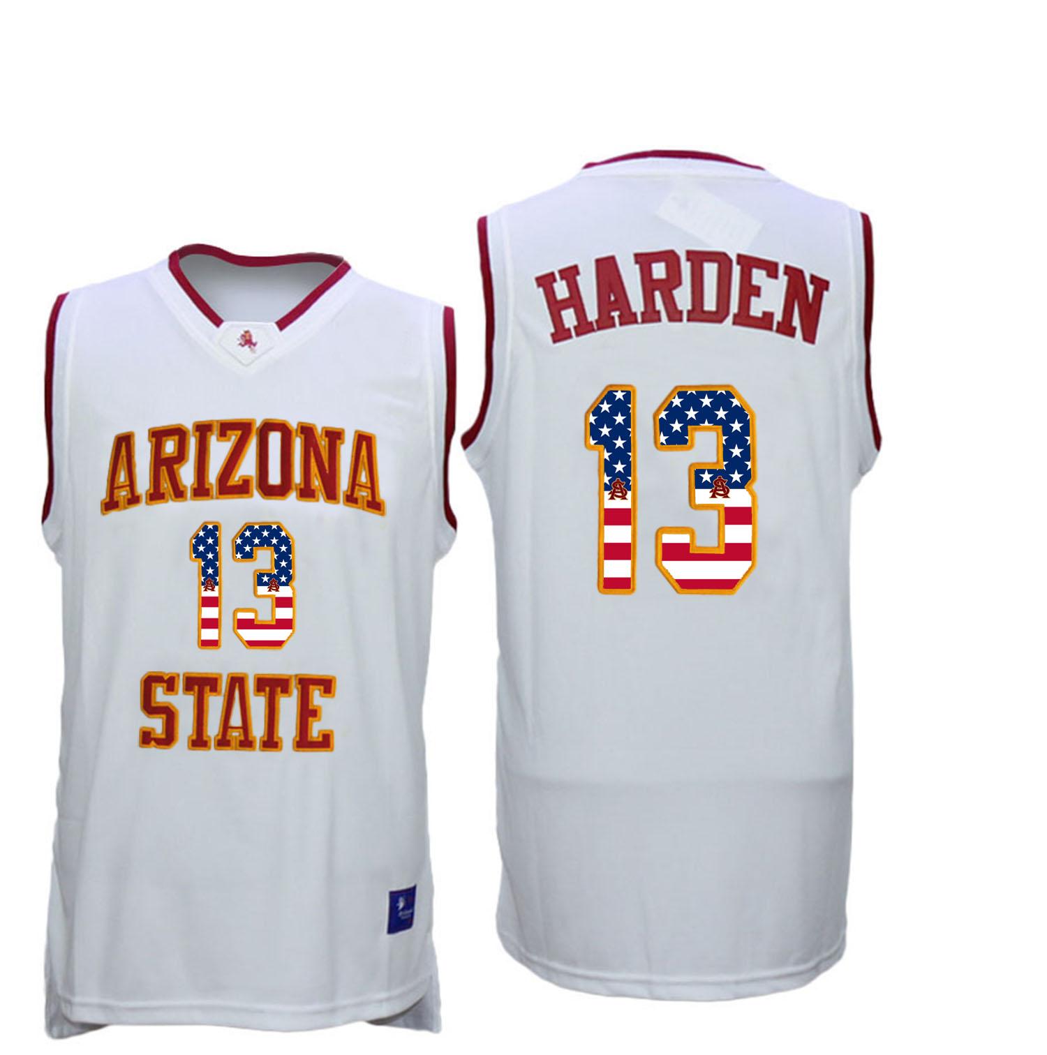Arizona State Sun Devils 13 James Harden 13 White College Basketball Jersey