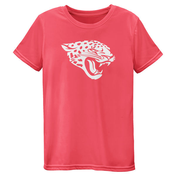 Jacksonville Jaguars Girls Youth Pink Neon Logo T-Shirt