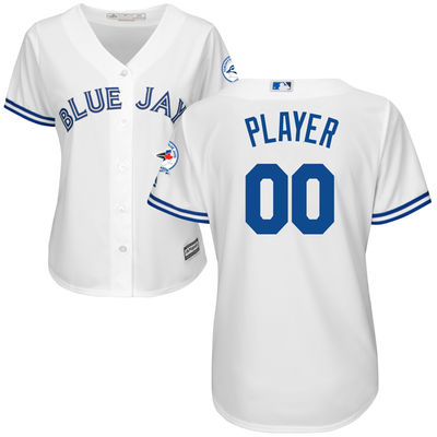 Blue Jays White Customized Women New Cool Base Jersey