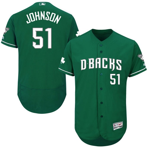 Diamondbacks 51 Randy Johnson Green Celtic Flexbase Jersey