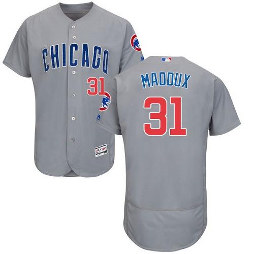 Cubs 31 Greg Maddux Gray Flexbase Jersey