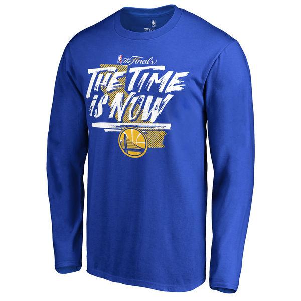 Men's Golden State Warriors Fanatics Branded Royal 2017 NBA Finals Bound Long Sleeve T-shirt