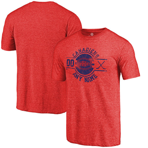 Montreal Canadiens Fanatics Branded Personalized Insignia Tri Blend T-Shirt Red