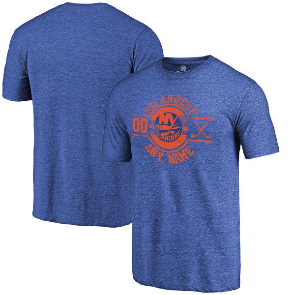 New York Islanders Fanatics Branded Personalized Insignia Tri Blend T-Shirt Royal