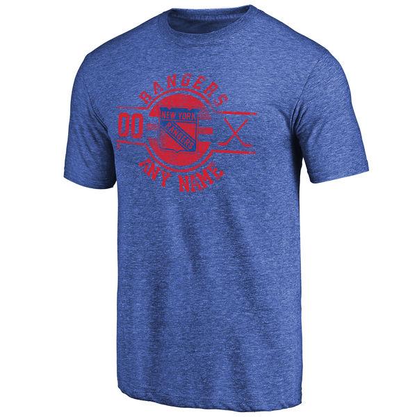 New York Rangers Fanatics Branded Personalized Insignia Tri Blend T-Shirt Royal
