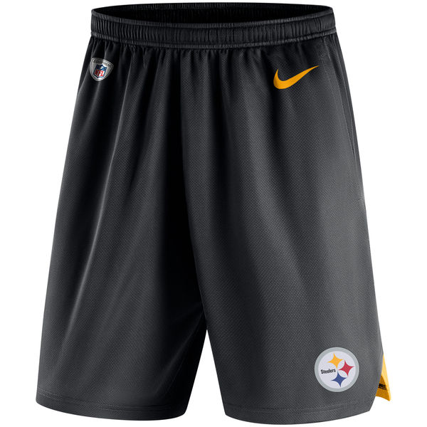 Men's Pittsburgh Steelers Nike Black Knit Performance Shorts