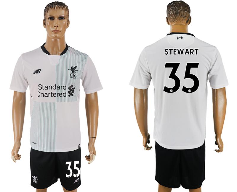 2017-18 Liverpool 35 STEWART Away Soccer Jersey