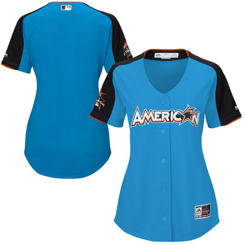 Women's American League Majestic Blue 2017 MLB All-Star Game Home Run Derby Team Jersey