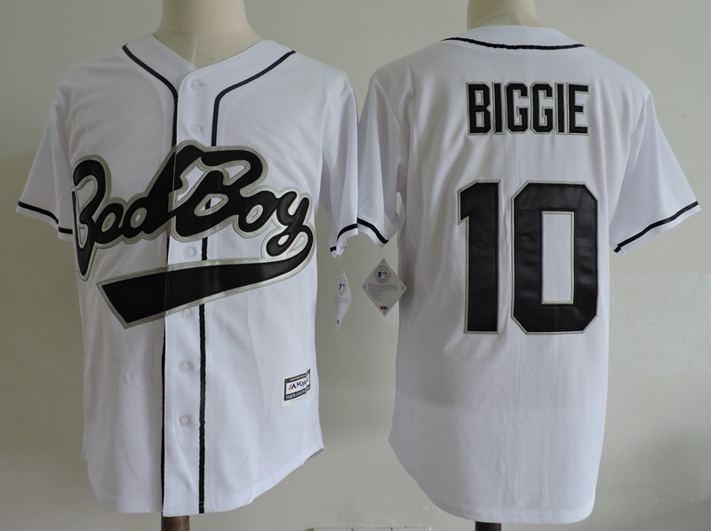 Bad Boy 10 Biggie Smalls White Movie Cool Base Jersey