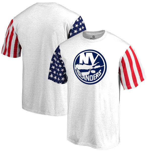 New York Islanders Fanatics Branded Stars & Stripes T-Shirt White
