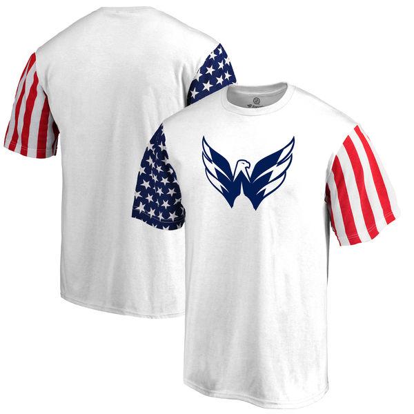 Washington Capitals Fanatics Branded Stars & Stripes T-Shirt White