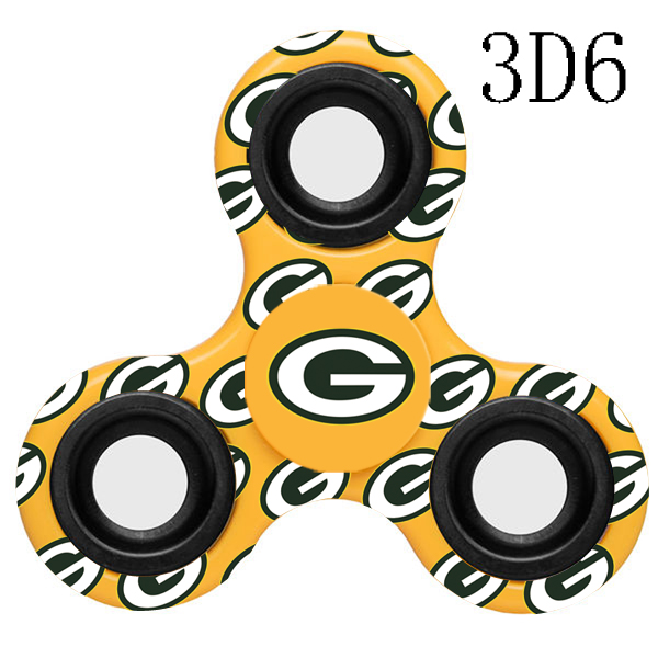 Green Bay Packers Multi-Logo 3 Way Fidget Spinner