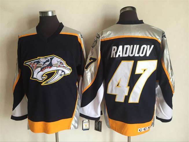 Predators 47 Alexander Radulov Black CCM Jersey