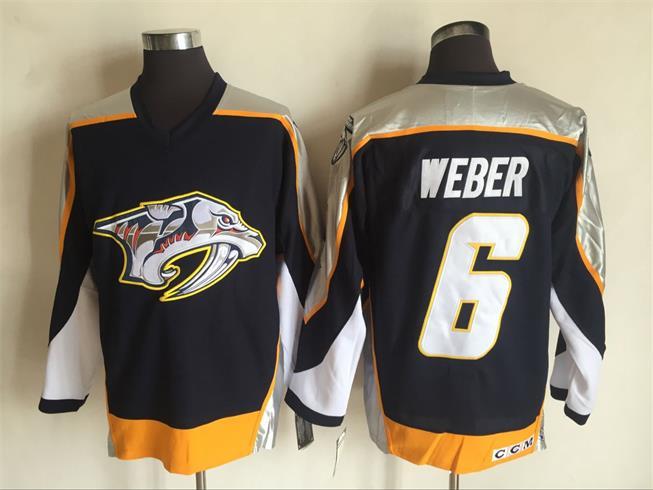 Predators 6 Weber Letters Black CCM Jersey