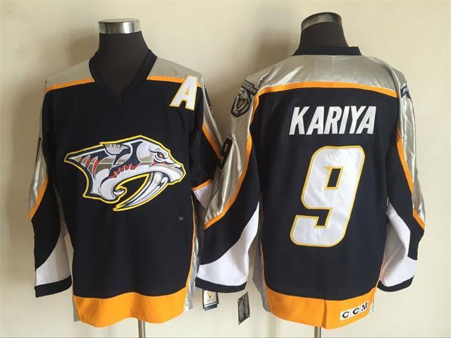 Predators 9 Paul Kariya Black CCM Jersey