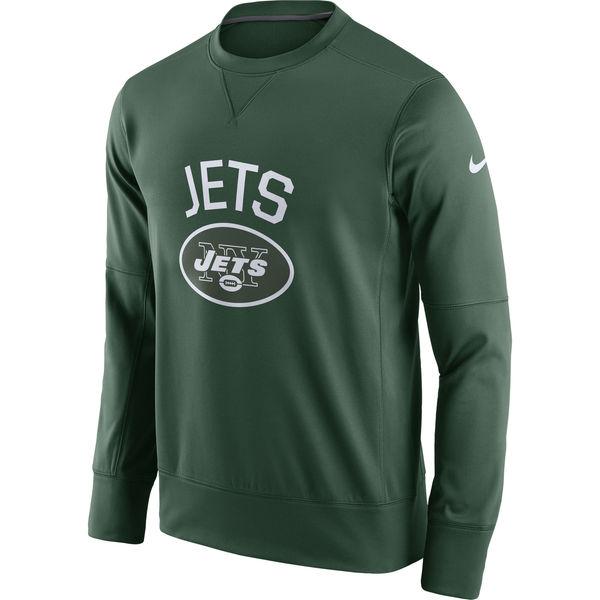 Men's New York Jets Nike Green Sideline Circuit Performance Sweatshirt