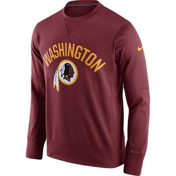 Men's Washington Redskins Nike Burgundy Sideline Circuit Performance Sweatshirt