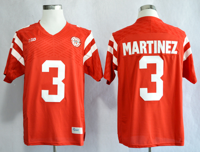 Nebraska Cornhuskers 3 Taylor Martinez Red College Football Jersey