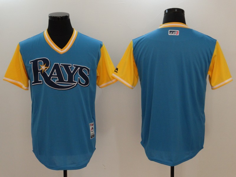 Rays Majestic Light Blue 2017 Players Weekend Team Jersey