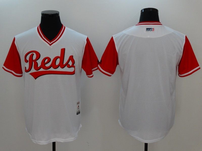 Reds Majestic White 2017 Players Weekend Team Jersey